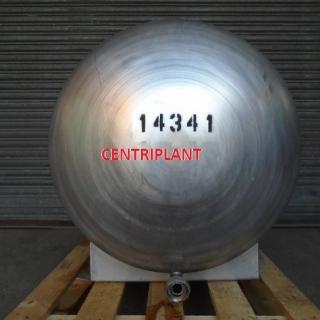 14341 - 350 LITRE HORIZONTAL STAINLESS STEEL TANK