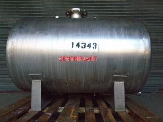 14343 - 350 LITRE HORIZONTAL STAINLESS STEEL TANK