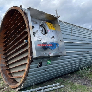 14350 - 67,000 LITRE VERTICAL STAINLESS STEEL TANK INSULATED AND CLAD WITH CORRUGATED CLADDING