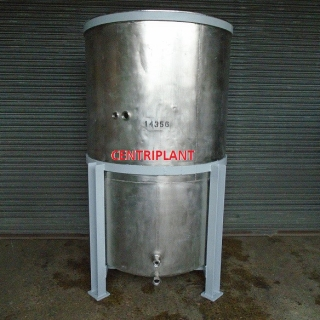 14356 - 2,100 LITRE STAINLESS STEEL OPEN TOP, CHILLED JACKETED TANK