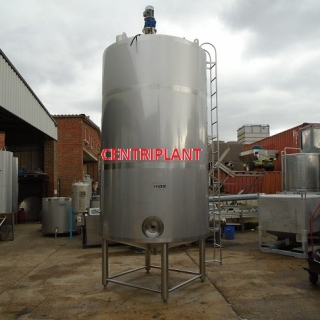 14359 - 9,350 LITRE STAINLESS STEEL TANK INSULATED AND CLAD WITH STAINLESS STEEL