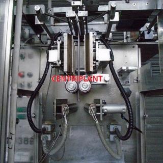 14369 - WESTON WHITE TWIN LANE AUTOMATIC LIQUID SACHET FILLING MACHINE