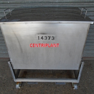 14373 - 330 LITRE STAINLESS STEEL SQUARE OPEN TOP TANK