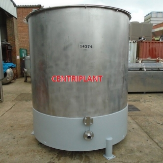 14374 - 5,500 LITRE STAINLESS STEEL OPEN TOP TANK