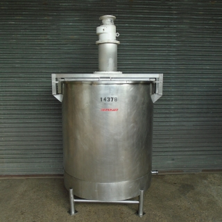 14378 - 1,250 LITRE STAINLESS STEEL OPEN TOP MIXING TANK