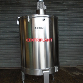 14383 - 1,000 LITRE STAINLESS STEEL MIXING TANK