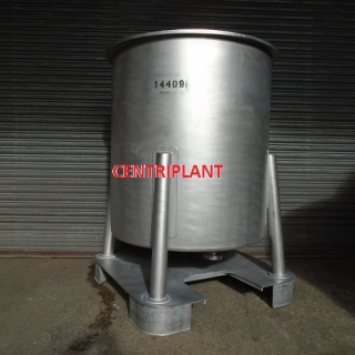 14409 - 1,100 LITRE STAINLESS STEEL OPEN TOP TANKS