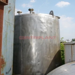 2768 - 6800 LTR ST/ST VERTICAL TANK, DISH TOP & BOTTOM, SIDE MANWAY