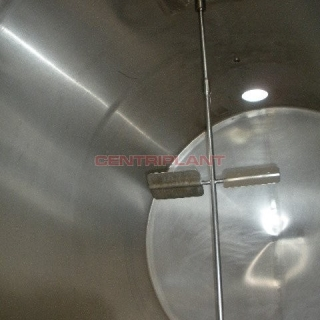 3108 - 16000 LTR HORIZONTAL STAINLESS STEEL TANK INSULATED AND CLAD WITH MILD STEEL CLADDING
