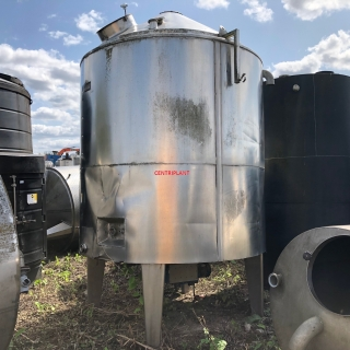 5089 - 5000 LTR VESSEL WITH BOTTOM ENTRY ANCHOR MIXER ,INSULATED AND  CLAD STN/STL
