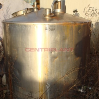 5156 - 2000 LTR VERTICAL ST/ST TANK INSULATED &  CLAD IN ST/ST