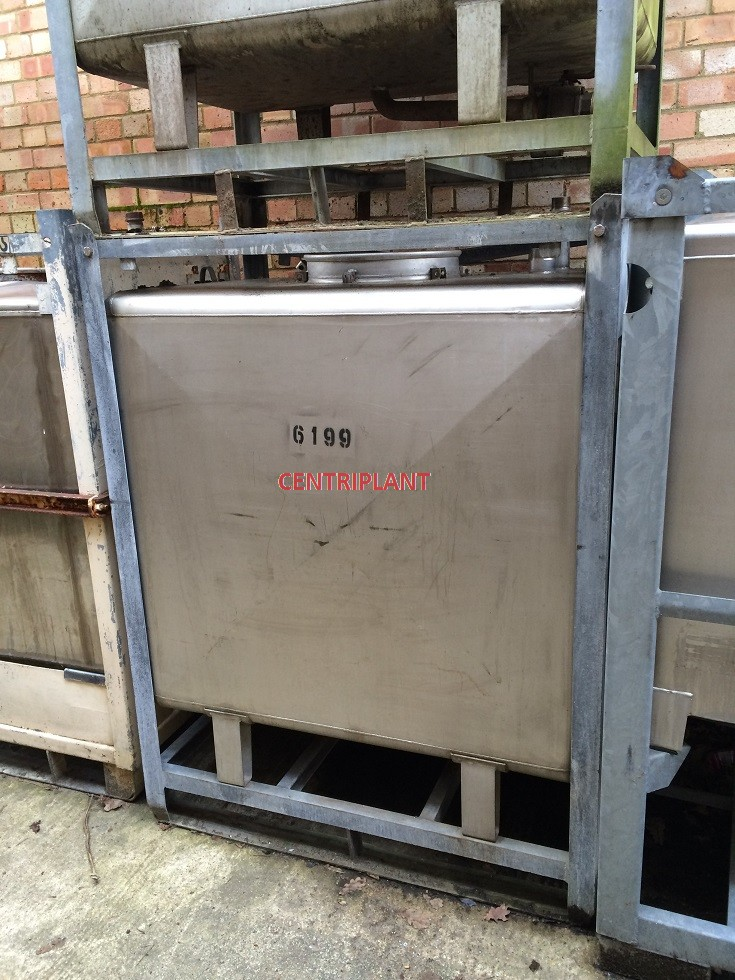 6199 - 1000 LT S/S SQUARE TRANSIT TANK