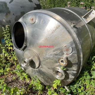6767 - 2500 LTR ST/ST TANK 10PSI ENCLOSED JACKET, 4 ST/ST SUPPORT GUSSETS, DISHED ENDS, HINGED LID