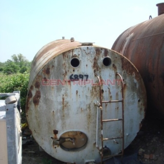 6897 - 13500 LTR ST/ST TANK INSULATED M/ST CLAD, DISHED ENDS