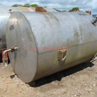 6925 - 7000 LITRE ST/ST OPEN TOP MIXING TANK, 1HP 1420RPM, ELECTRO POWER GEARBOX, TYPE ESRV1