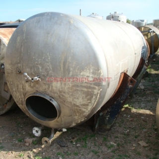 7230 - 8000 LTR CHILLED JACKETED TANK, DISHED ENDS, 30PSI