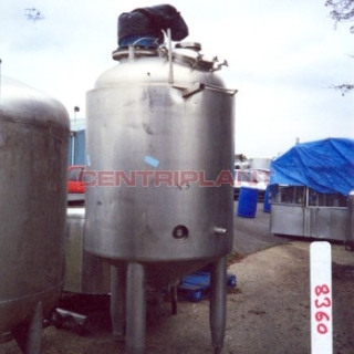8360 - 1,500LITRE STAINLESS STEEL STEAM JACKETED TANK