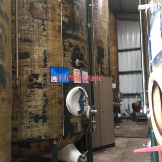 .95809 - 20,000 LITRE VERTICAL FIBRE GLASS TANKS, DISHED ENDS TANK STANDING ON LEGS