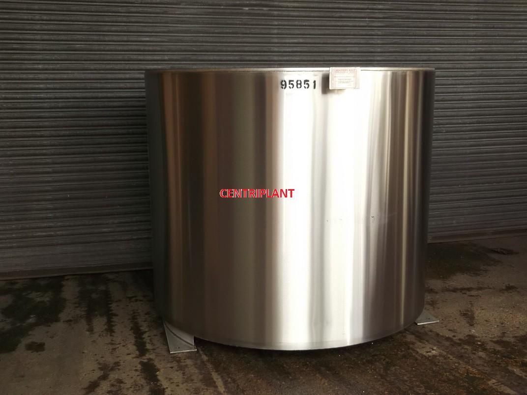 95891 - NEW 2,500 LITRE STAINLESS STEEL STEAM JACKETED OPEN TOP TANKS, INSULATED AND CLAD WITH WELD ST/ST.