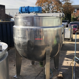 96069 - 4,500 LITRE STEAM JACKETED SIDE SCRAPE MIXER WITH BOTTOM ENTRY HIGH SHEAR MIXER