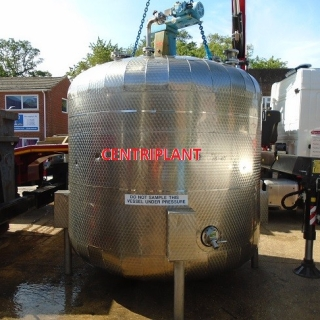 96140 - 8,500 LITRE STAINLESS STEEL MIXING TANK