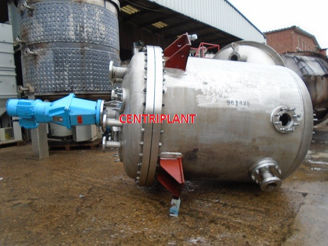 96142 - 1,700 LITRE STAINLESS STEEL ATEX RATED PRESSURE AND FULL VACUUM